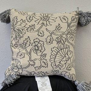 Square floral pillow